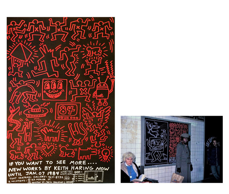 Keith Haring, ''Keith Haring 84', Tony Shafrazi Gallery, 1984, Street Advertising Poster, RARE', 1984, Posters, Lithograph on bond paper, VINCE fine arts/ephemera