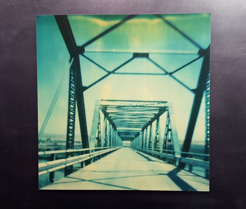 Stefanie Schneider, 'Blue Bridge (Stranger than Paradise)', 1999, Photography, Analog C-Print based on a Polaroid, hand-printed by the artist on Fuji Crystal Archive Paper. Mounted on Aluminum with matte UV-Protection., Instantdreams