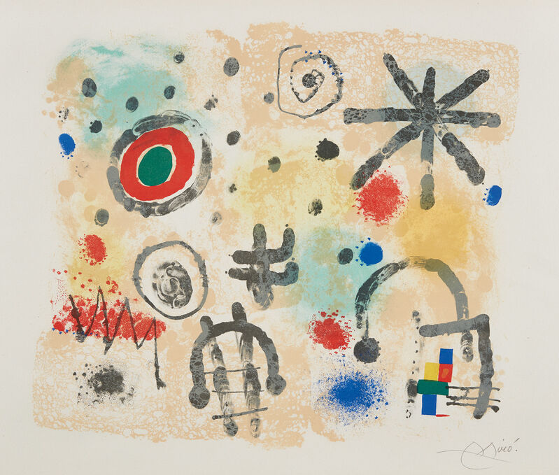 Joan Miró, 'Signes et météores (Signs and Meteors)', 1958, Print, Lithograph in colors, on Arches paper, with full margins., Phillips