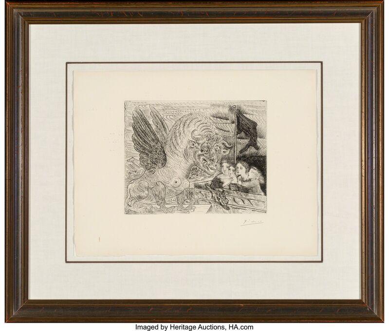 Pablo Picasso, 'Taureau ailé contemplé par quatre enfants, from La Suite Vollard', 1934, Print, Etching on Montval laid paper, Heritage Auctions