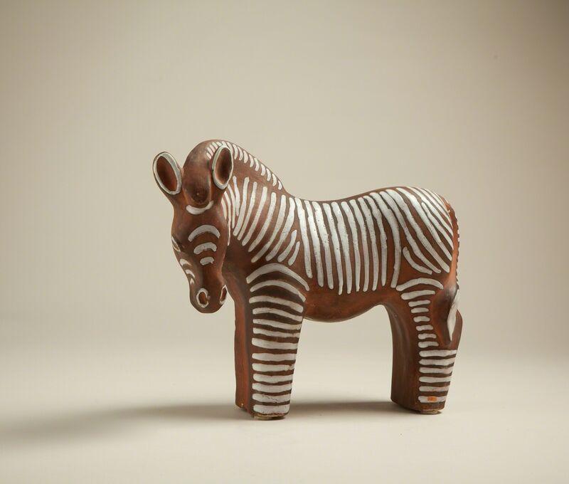 'Zebra', ca. 1937, Design/Decorative Art, Ceramic partly enamelled,, Galerie Anne-Sophie Duval
