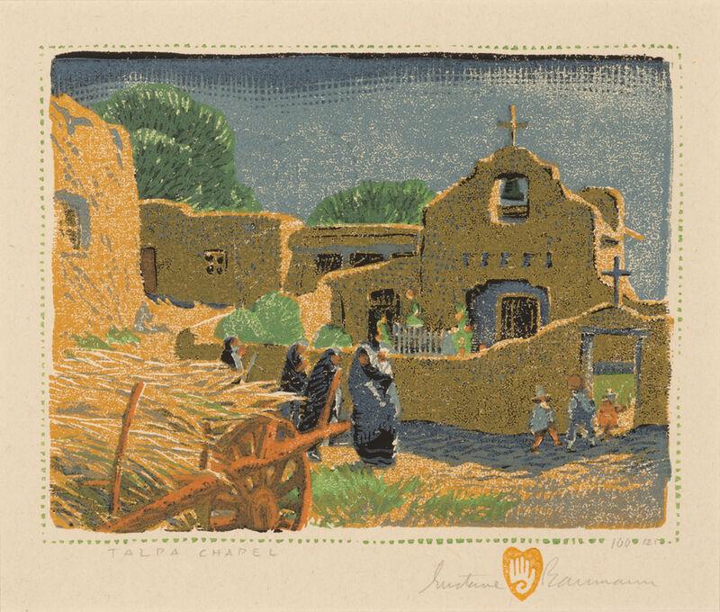 Gustave Baumann, 'Talpa Chapel', 1920, Print, Color woodcut on paper, Aaron Payne Fine Art