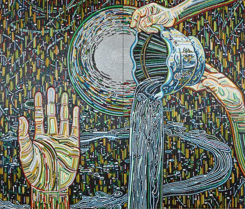 Kazuma Koike, 'Silent Falls', 2011, Painting, Acrylic on cotton, Tezukayama Gallery
