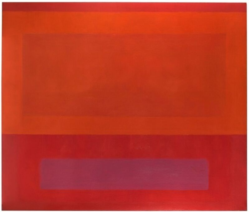 Perle Fine, 'Cool Series (Red over Orange over Purple)', 1961-1963, Painting, Oil on canvas, Berry Campbell Gallery