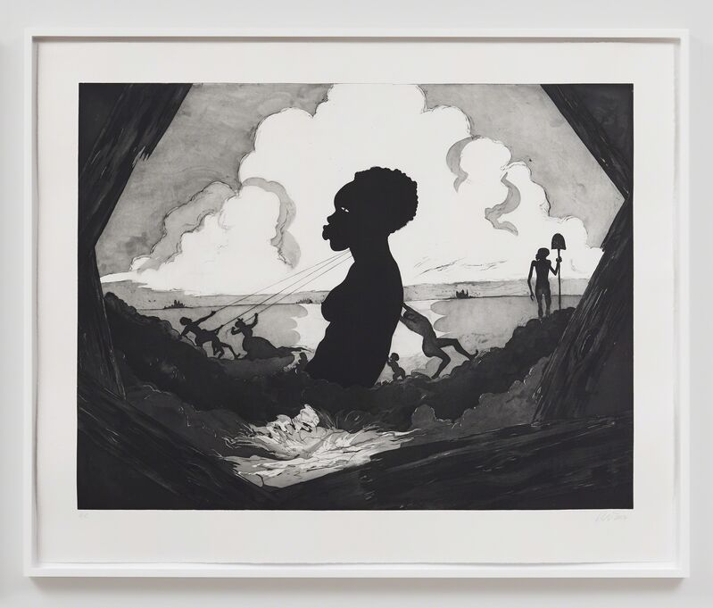 Kara Walker, 'Resurrection Story Without Patrons', 2017, Print, Etching with aquatint, sugar-lift, spit-bite and dry-point on paper, Sikkema Jenkins & Co.