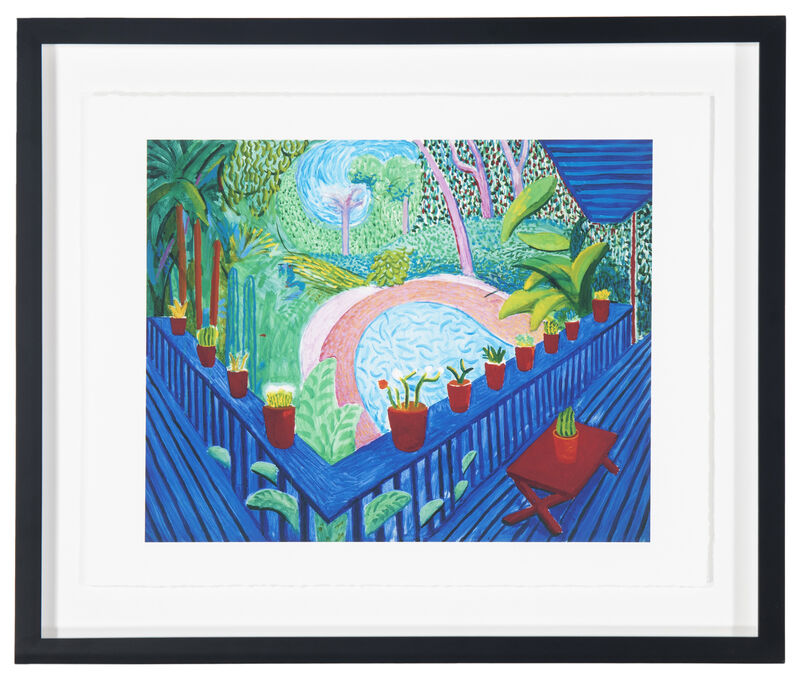 David Hockney, 'Red Pots in the Garden', 2000-2017, Print, Giclee print on Somerset Enhanced cotton rag paper with hand finished edges under Plexiglas, John Moran Auctioneers