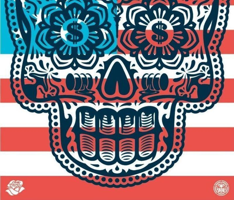 Shepard Fairey, 'Merica', ca. 2018, Drawing, Collage or other Work on Paper, Speckeltone paper, AYNAC Gallery