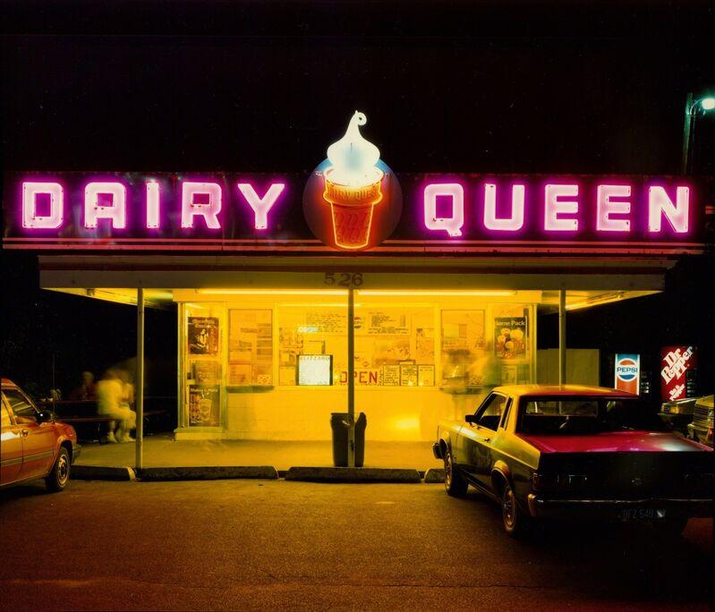 Jim Dow, 'Dairy Queen at Night, US 6, Iowa City, Iowa', 1988, Photography, Archival digital pigment print, Robert Klein Gallery