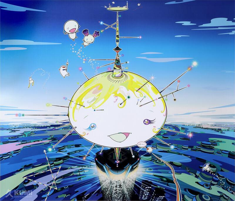 Takashi Murakami, 'Mamu Came from the Sky', 2007, Print, Offset Lithograph, Kumi Contemporary / Verso Contemporary
