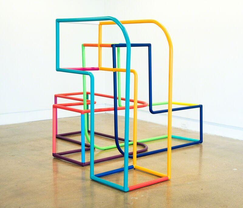 Cisco Merel, 'Construcción Lineal 19', 2017, Sculpture, Painted aluminum, Fort Worth Contemporary Arts