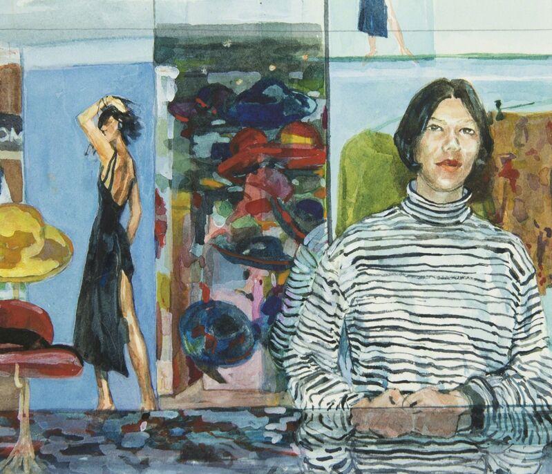 Margaret Harrison, 'Fenwicks, London (1)', 1993, Painting, Watercolor on paper, Ronald Feldman Gallery