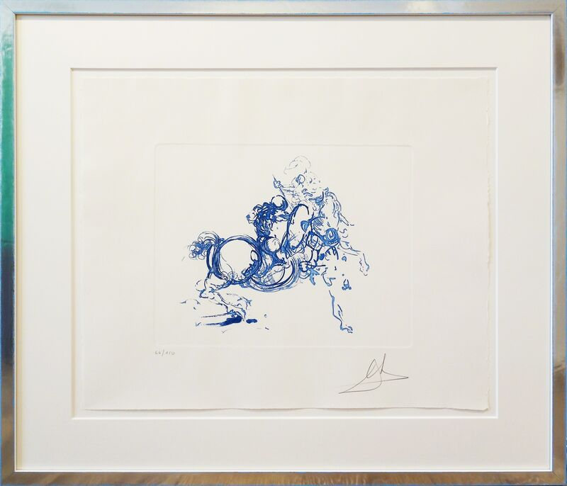 Salvador Dalí, 'Ritterkampf/Jinete blue', 1971, Print, Etching on paper, Galerie Kellermann