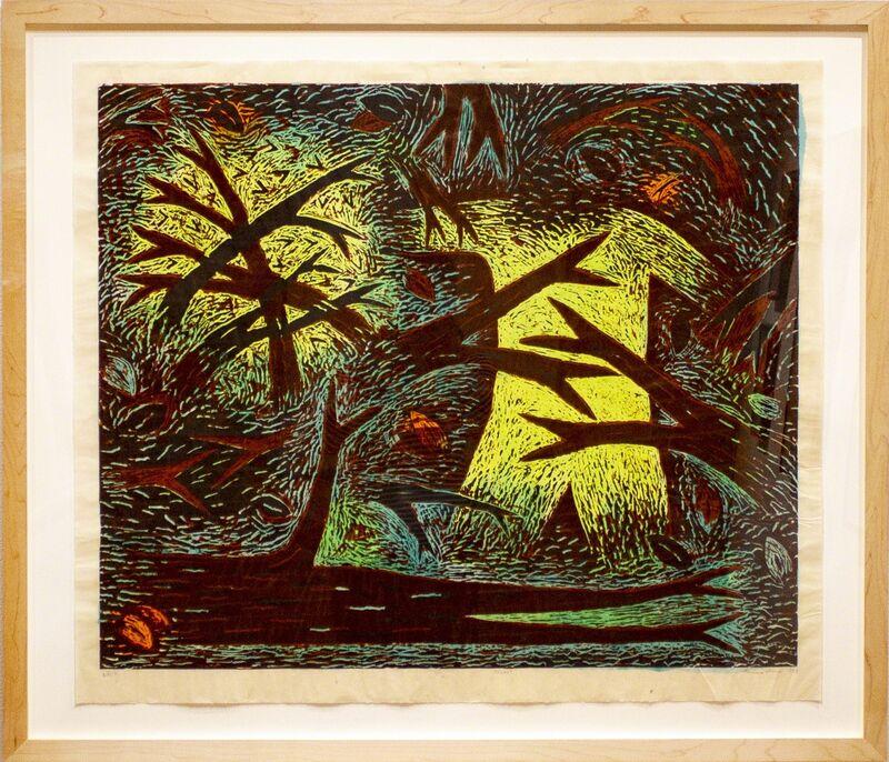 Louisa Chase, 'Thicket', 1983, Print, Woodblock, Goya Contemporary/Goya-Girl Press