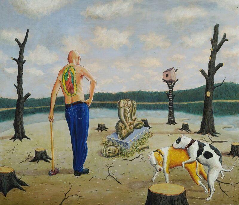 Tim Vermeulen, 'The Animal Realm ', 2014, Painting, Oil on Panel, George Billis Gallery