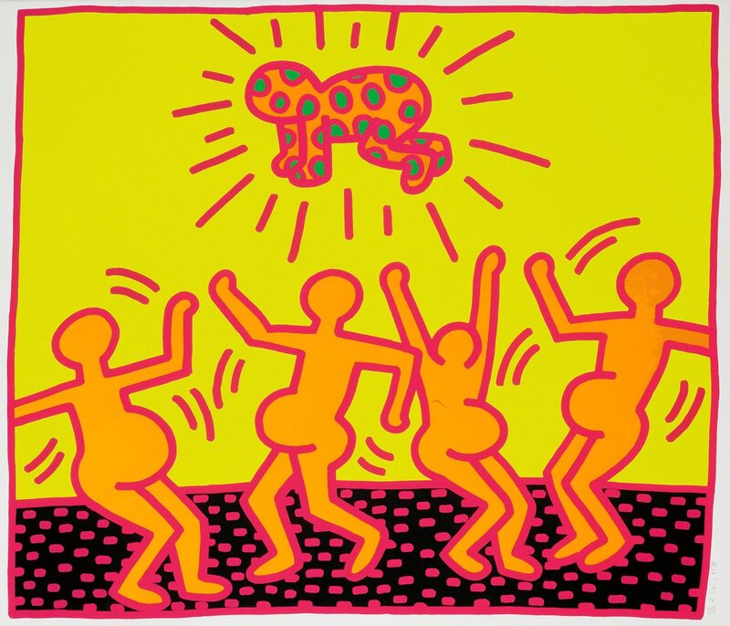 """Keith Haring, 'Untitled, 1983 (""""Fertility #4"""")', 1983, Print, Hand-signed silkscreen, Martin Lawrence Galleries"""