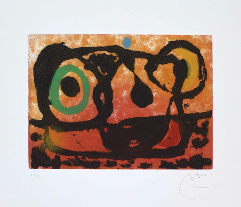 Joan Miró, 'Tête au Soleil Couchant', 1967, Print, Etching with aquatint and carborundum in colours on Arches wove paper, Christie's