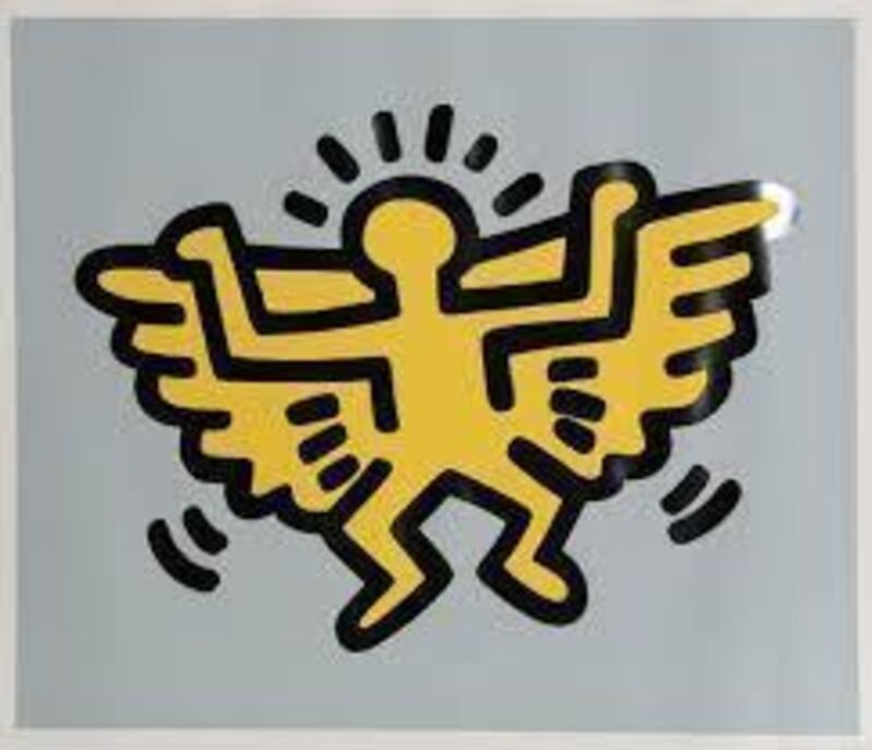 Keith Haring, 'Icons-Angel', 1990, Print, Silkscreen with embossing, Vertu Fine Art