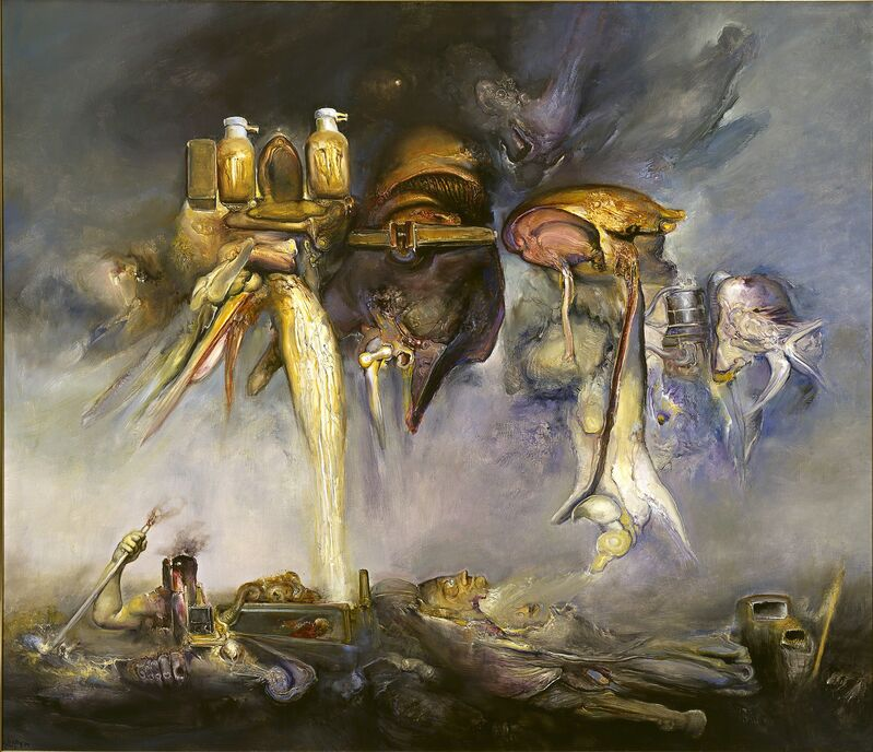 James Gleeson, 'Icons of Hazard', 2001, Painting, Oil on canvas, National Gallery of Victoria