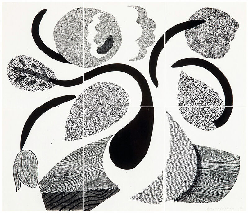 David Hockney, 'Dancing Flowers, May 1986 ', 1986, Print, Homemade print on 6 sheets of Arches laid paper, Kenneth A. Friedman & Co.