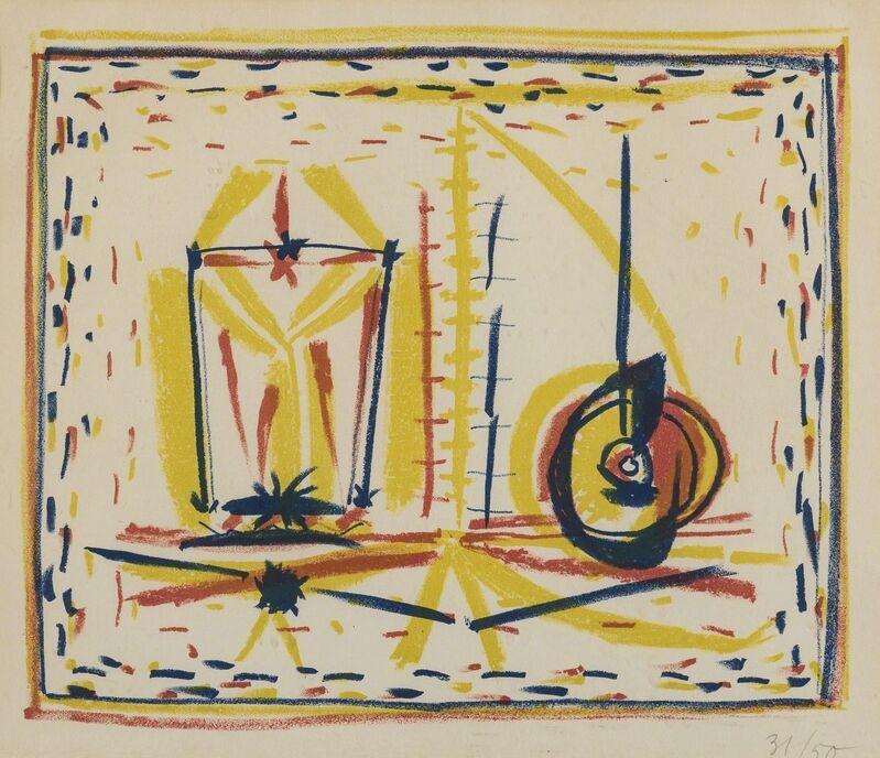 Pablo Picasso, 'Compostion au verre et a la pomme (Mourlot 33)', 1946, Posters, Lithograph printed in colours, Forum Auctions