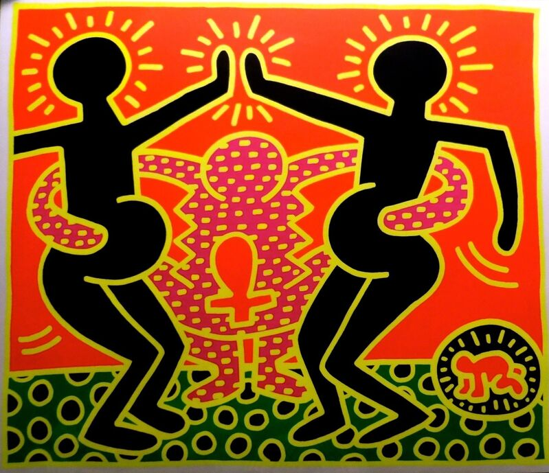 Keith Haring, 'Fertility #4', 1983, Print, Silkscreen, signed and numbered in pencil, Pop Fine Art