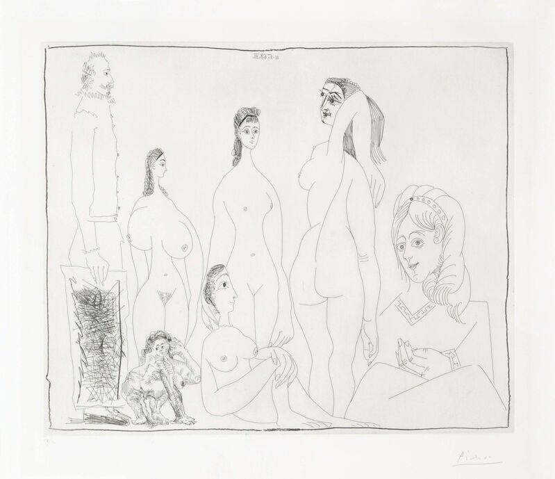 Pablo Picasso, 'Peintre longiline avec des femmes, dont une petite pisseuse, from La Série 347', 1968, Print, Etching on Rives paper, Christie's