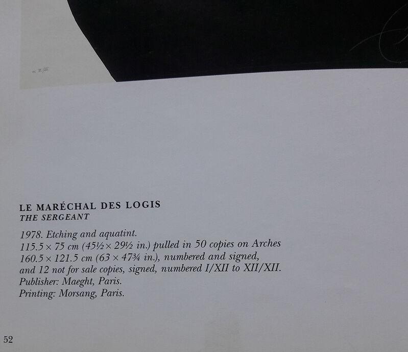 Joan Miró, 'Le Maréchal des Logis (The Sergeant)', 1978, Print, Color etching and aquatint on Arches paper, Invertirenarte.es