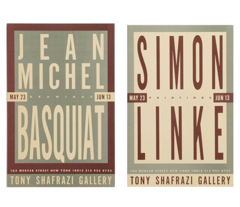 "Jean-Michel Basquiat, 'Jean-Michel Basquiat's ""Drawings"", Group Exhibition Invitation Card (double-sided), Tony Shafrazi Gallery NYC', 1987, Ephemera or Merchandise, Lithograph on card stock, VINCE fine arts/ephemera"