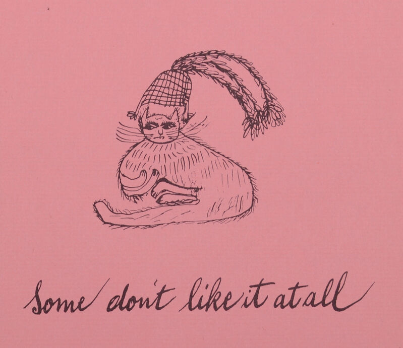 Andy Warhol, 'Some don't like it at all from Holy Cats by Andy Warhol's Mother', ca. 1957, Print, Offset lithograph on wove paper, NCAG