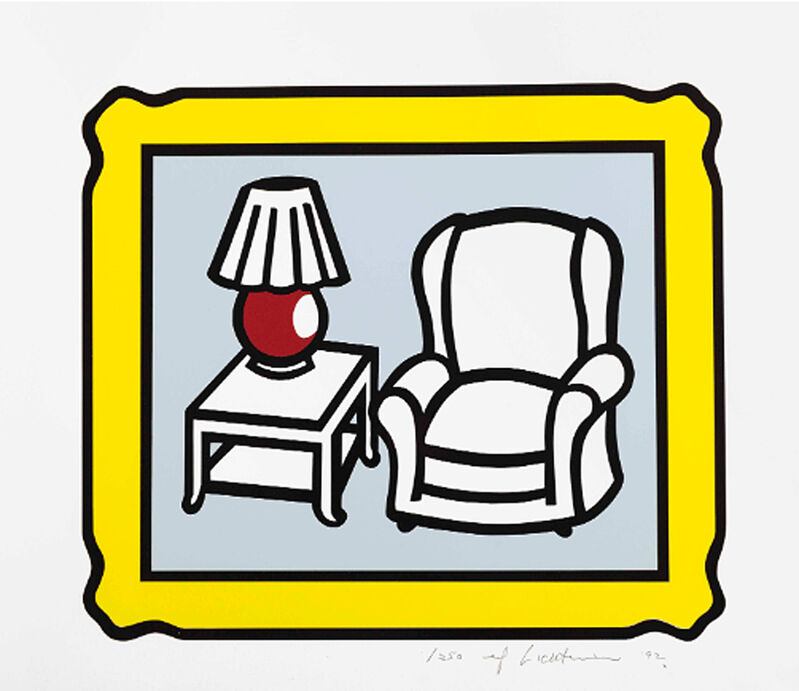 Roy Lichtenstein, 'Red Lamp', 1992, Print, Lithograph on Rives BFK paper, Lougher Contemporary