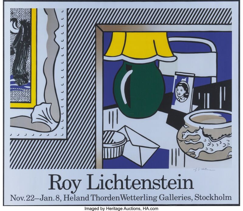 Roy Lichtenstein, 'Mannheimer Kunstverein and Wetterling Galleries (two exhibition posters)', 1977, Print, Offset prints on paper, Heritage Auctions