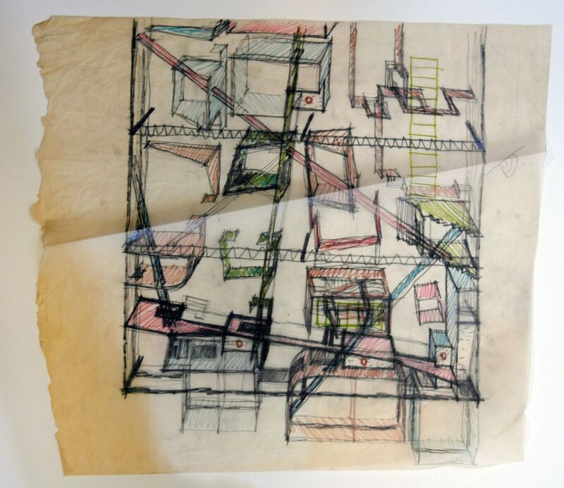 Frank Gehry, 'Mid-Atlantic Toyota Distributors Study of the Interior Partitions, Glen Burnie, Maryland', 1976-1978, Drawing, Collage or other Work on Paper, Los Angeles County Museum of Art