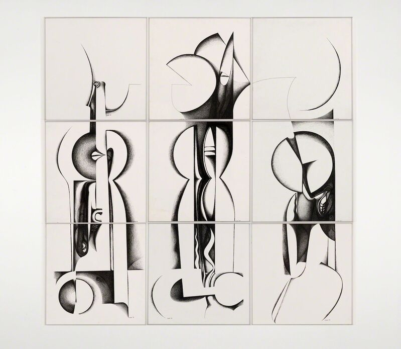 Ibrahim El-Salahi, 'Calligraphic Forms III', 1989, Drawing, Collage or other Work on Paper, Ink on paper, Vigo Gallery