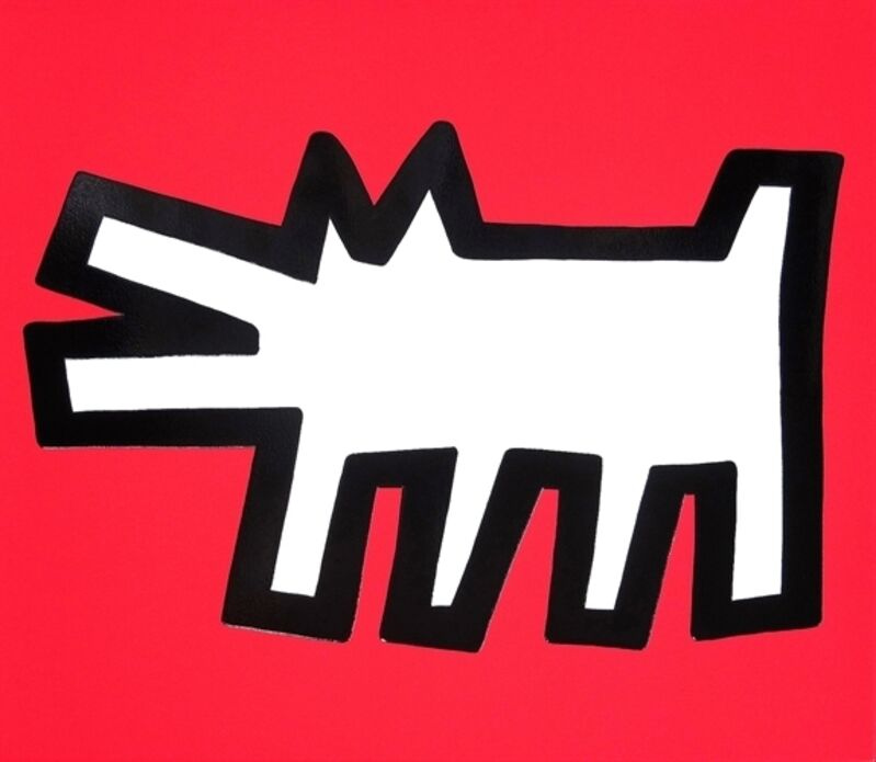 Keith Haring, 'Icons (B) - Barking Dog', 1990, Print, Embossed screenprint in colors in Arches Cover paper, Taglialatella Galleries