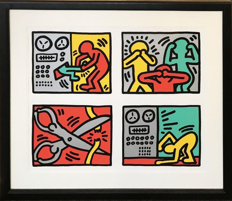 Keith Haring, 'Pop Shop III Quad', 1989, Print, Screenprint on paper, Taglialatella Galleries