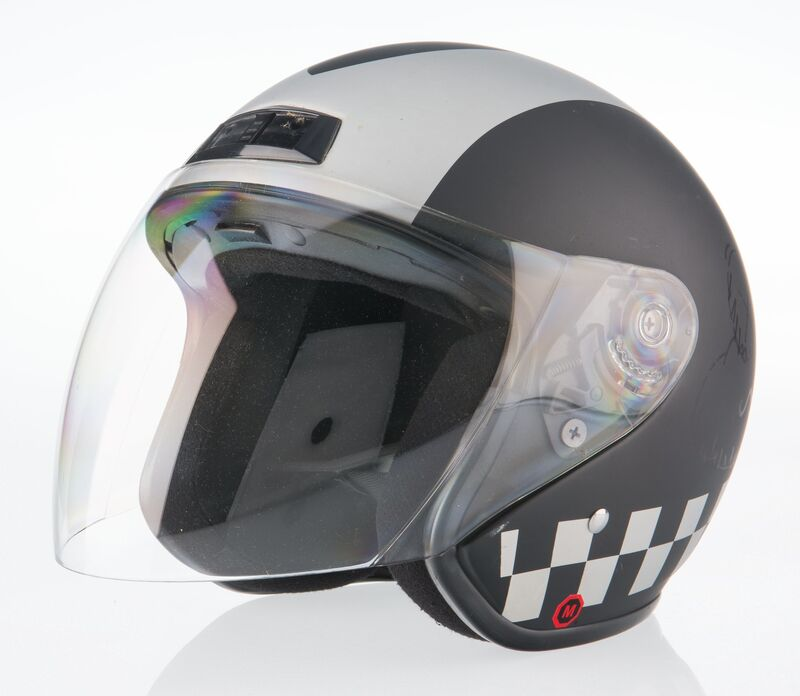 KAWS, 'Untitled', 2011, Other, Ink illustration on motorcycle helmet, Heritage Auctions