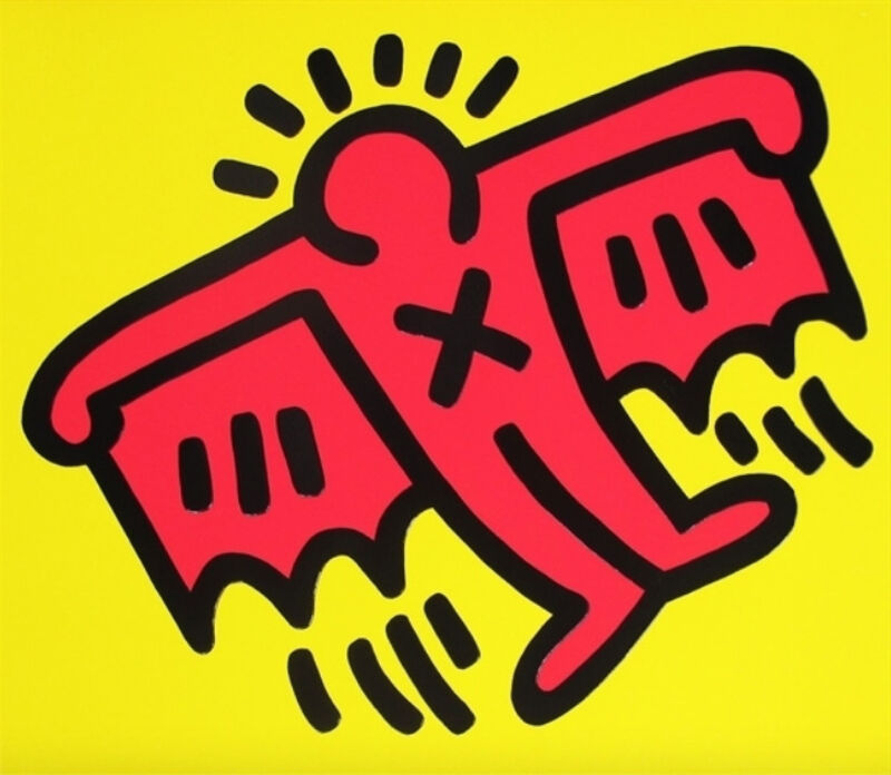 Keith Haring, 'X-Man, from Icons', 1990, Print, Screenprint in colors, on embossed Arches cover paper, Upsilon Gallery