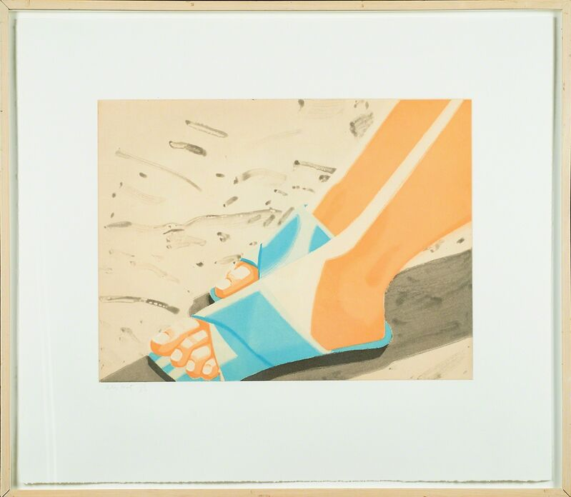 Alex Katz, 'Beach Sandals', 1987, Print, Aquatint and spitbite in colors on Somerset Satin paper (framed), Rago/Wright
