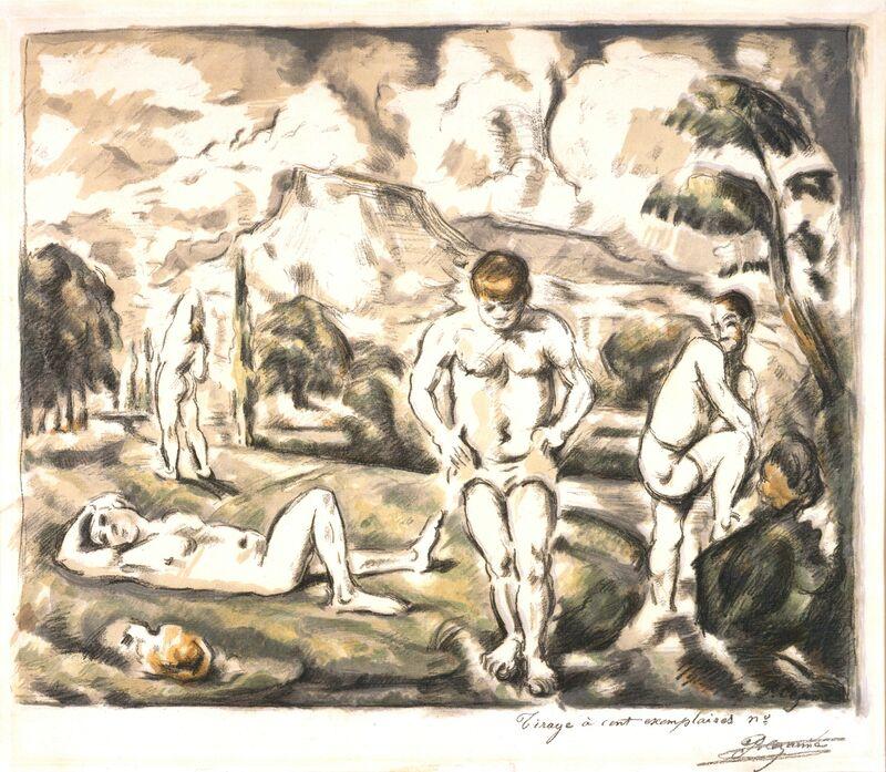 Paul Cézanne, 'Les Baigneurs (grande planche) (The Large Bathers)', 1896, Print, Transfer and color lithograph, Blanton Museum of Art