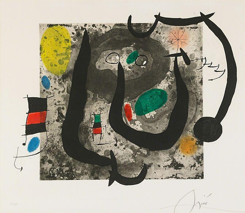 Joan Miró, 'Les Armes Du Sommeil', 1970, Print, Etching, aquatint and carborundum, Rago/Wright/LAMA