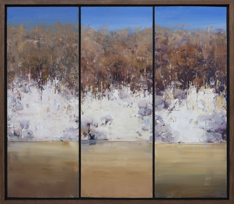 Ken Knight, 'Rockface and Reflection', 2010, Painting, Oil on Board, Wentworth Galleries