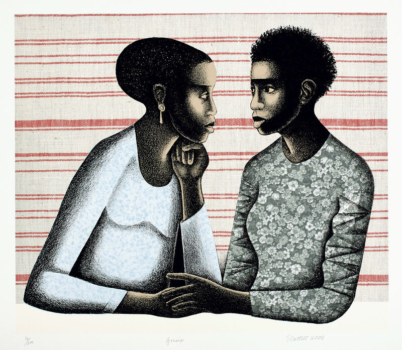 Elizabeth Catlett, 'Gossip', 2005, Print, Giclée print and lithograph in colors, on Somerset paper, with full margins., Phillips