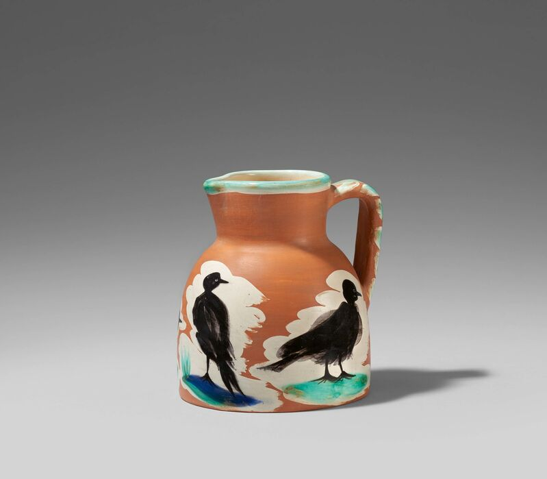 Pablo Picasso, 'Pitcher with birds', 1962, Design/Decorative Art, White earthenware clay, polychromed and partially galzed, Van Ham