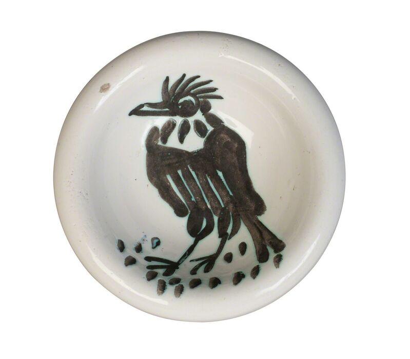 Pablo Picasso, 'a Madoura Pottery bowl', c. 1950's, Design/Decorative Art, A white earthenware 'Oiseau a la huppe' bowl, Roseberys