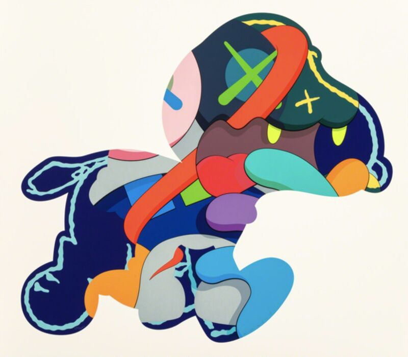 KAWS, 'Stay Steady', 2015, Print, Silkscreen on paper, Gin Huang Gallery