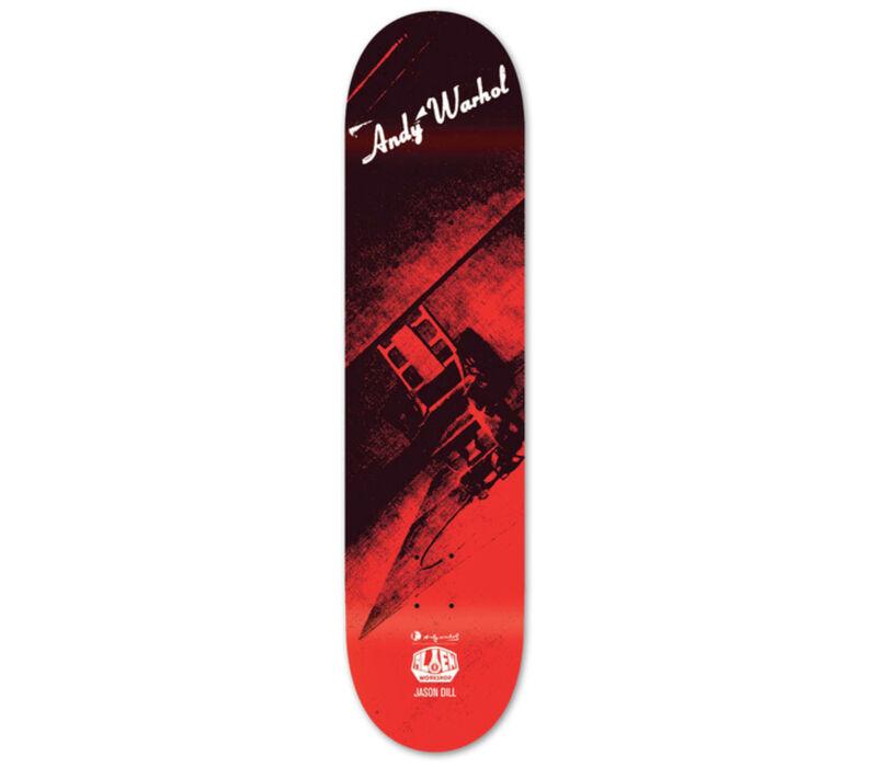 Andy Warhol, 'Andy Warhol Electric Chair Skateboard Deck (New)', 2010, Ephemera or Merchandise, Silkscreen on maple wood, Lot 180