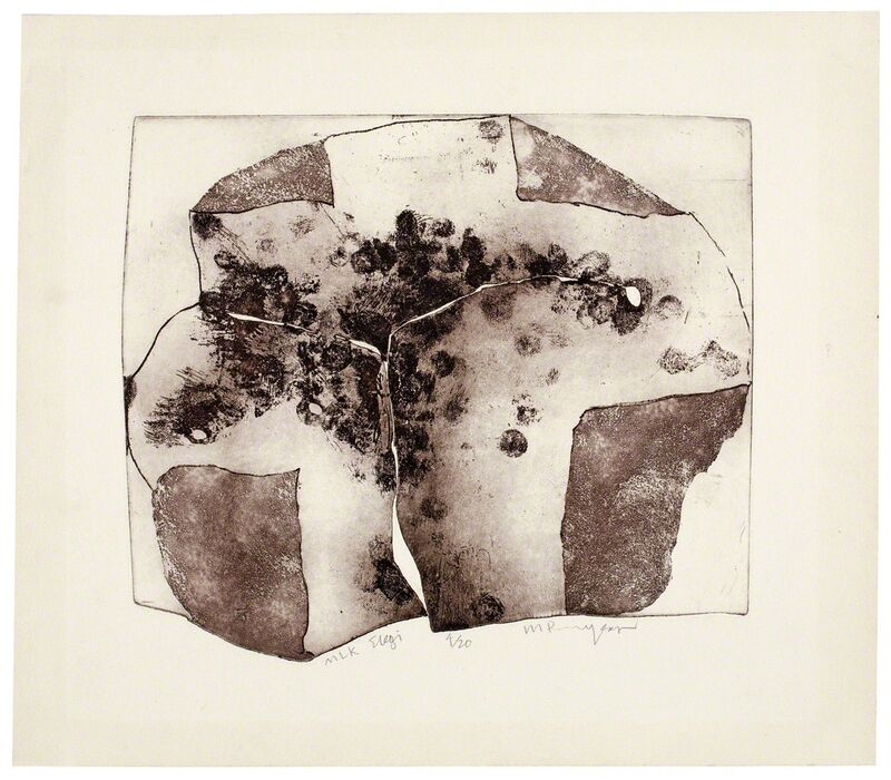 Martin Puryear, 'MLK Elegi', 1968, Print, Softground etching and aquatint on shaped plate, with burnishing, printed in brown on ivory wove paper, Smithsonian American Art Museum
