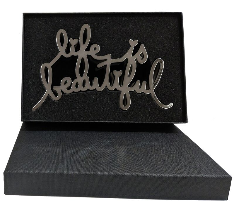 Mr. Brainwash, 'LIFE IS BEAUTIFUL (HARD CANDY SILVER)', 2017, Sculpture, CAST RESIN, Gallery Art