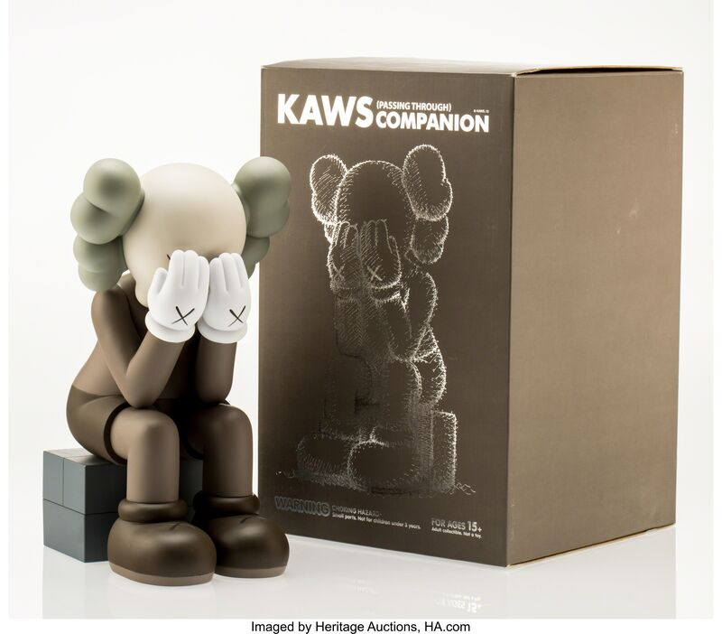 KAWS, 'Companion-Passing Through (Brown)', 2013, Other, Painted cast vinyl, Heritage Auctions