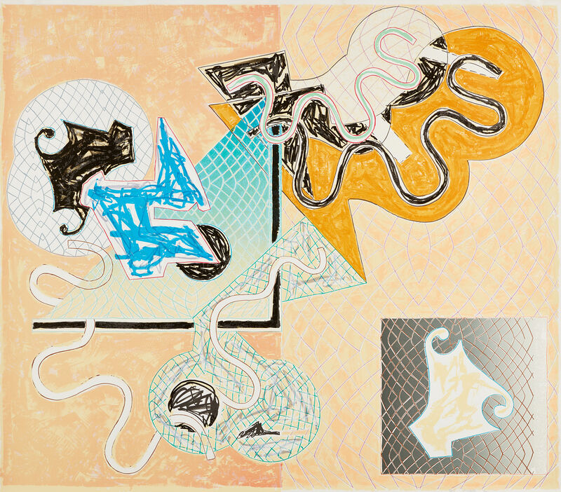 Frank Stella, 'Shards IV, from Shards (A. & K. 147)', 1982, Print, Lithograph and screenprint in colors, on Arches Cover paper, the full sheet., Phillips
